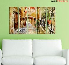 China Town Premium Quality Canvas Wall Hanging