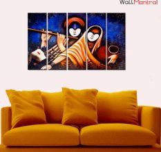 Radha & Krishna Canvas Wall Hanging