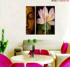 Buddha & Lotus Premium Quality Canvas Wall Hanging