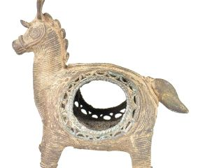 Brass Tribal Animal Napkin Holder