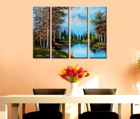 Mountains Scenery Premium Quality Canvas Wall Hanging