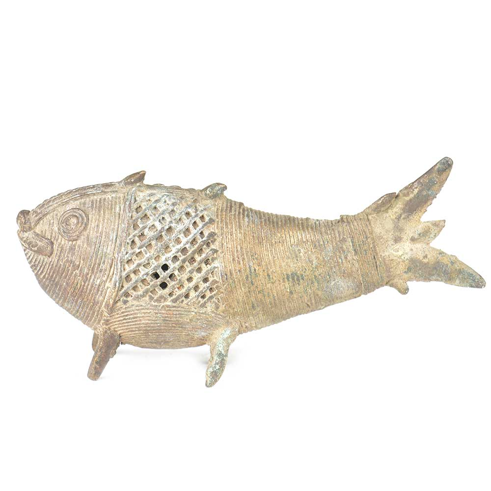 Brass Tribal Fish Incense Stick Holder