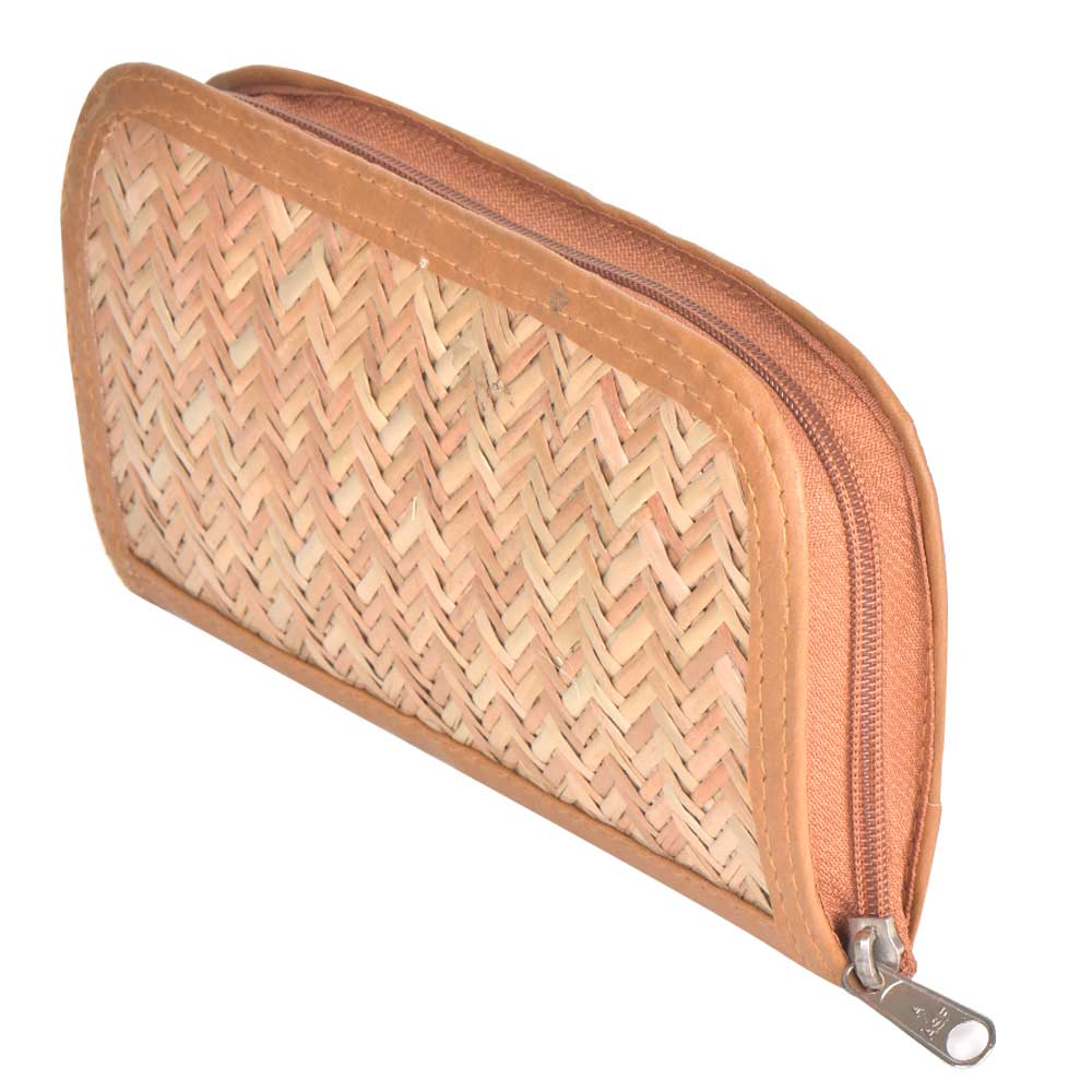 Traditional Bamboo Straw Clutch
