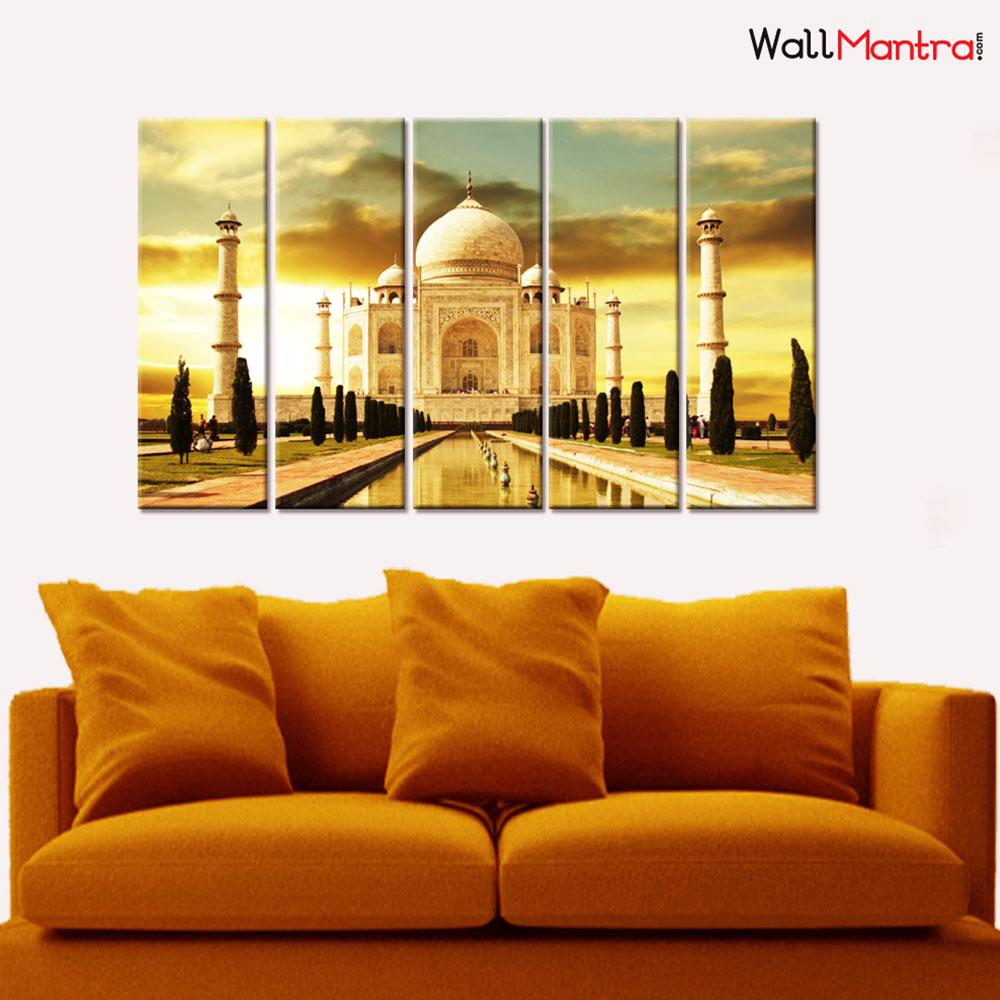 Taj Mahal Premium Canvas Wall Hanging