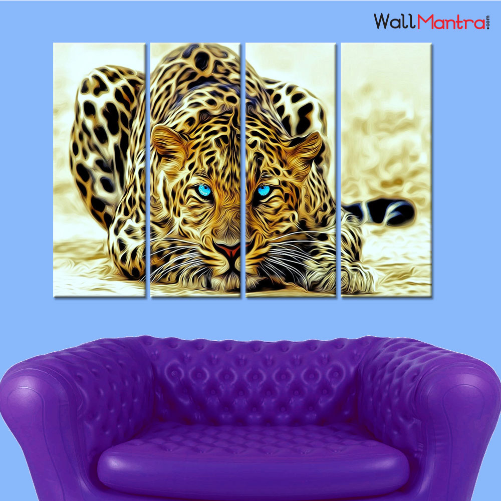 Leopard Premium Quality Canvas Wall Hanging