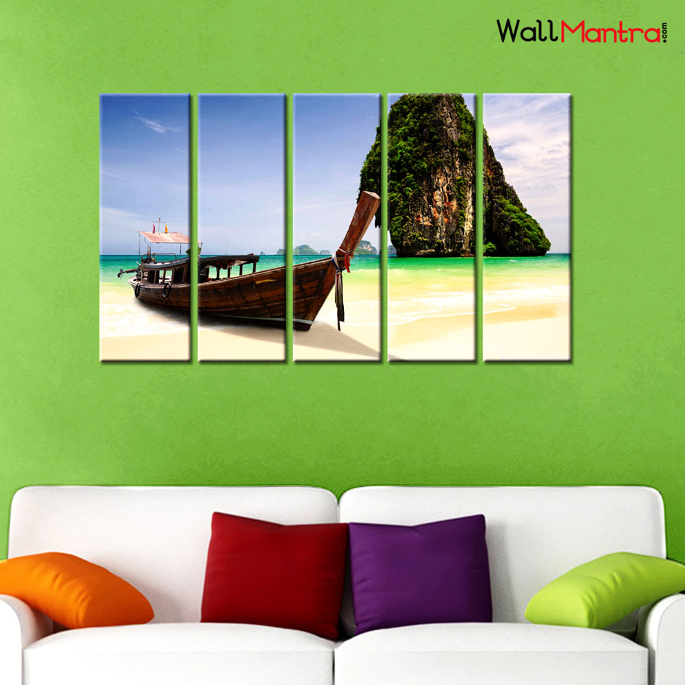 Starfish & Glassbottle Canvas Wall Hanging