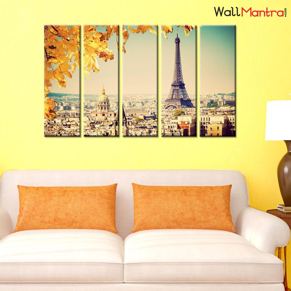 Eiffel Tower Premium Quality Canvas Wall Hanging