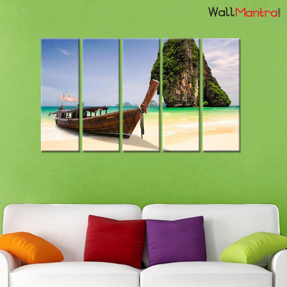 Beach Premium Quality Canvas Wall Hanging