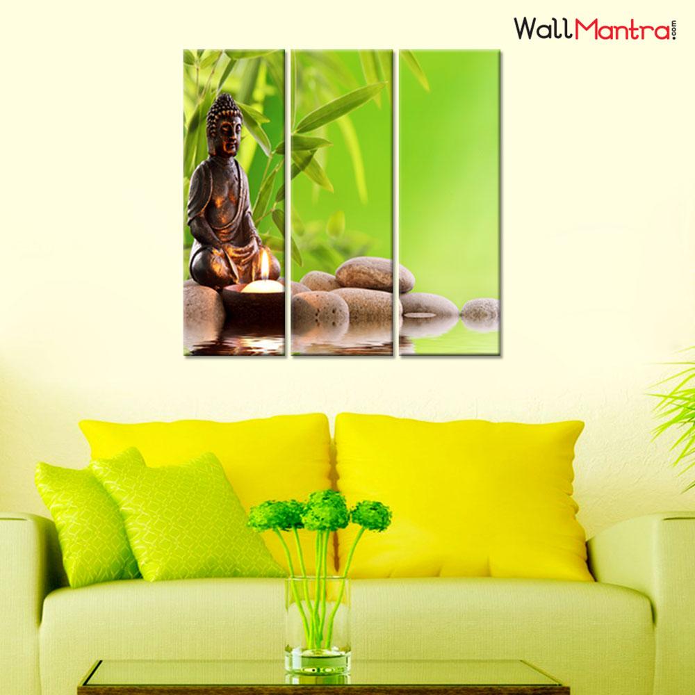 Buddha Premium Quality Canvas Wall Hanging