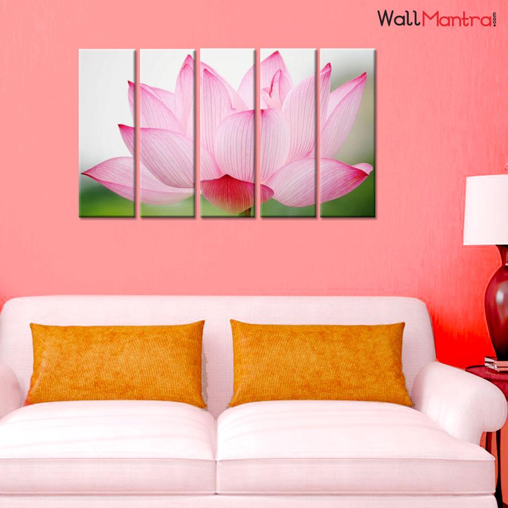 Lotus Premium Quality Canvas Wall Hanging