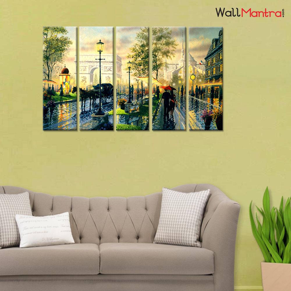 Paris Senery Canvas Premium Quality Wall Hanging