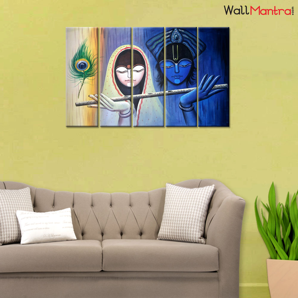 Radha Krishna Premium Quality Canvas Wall Hanging