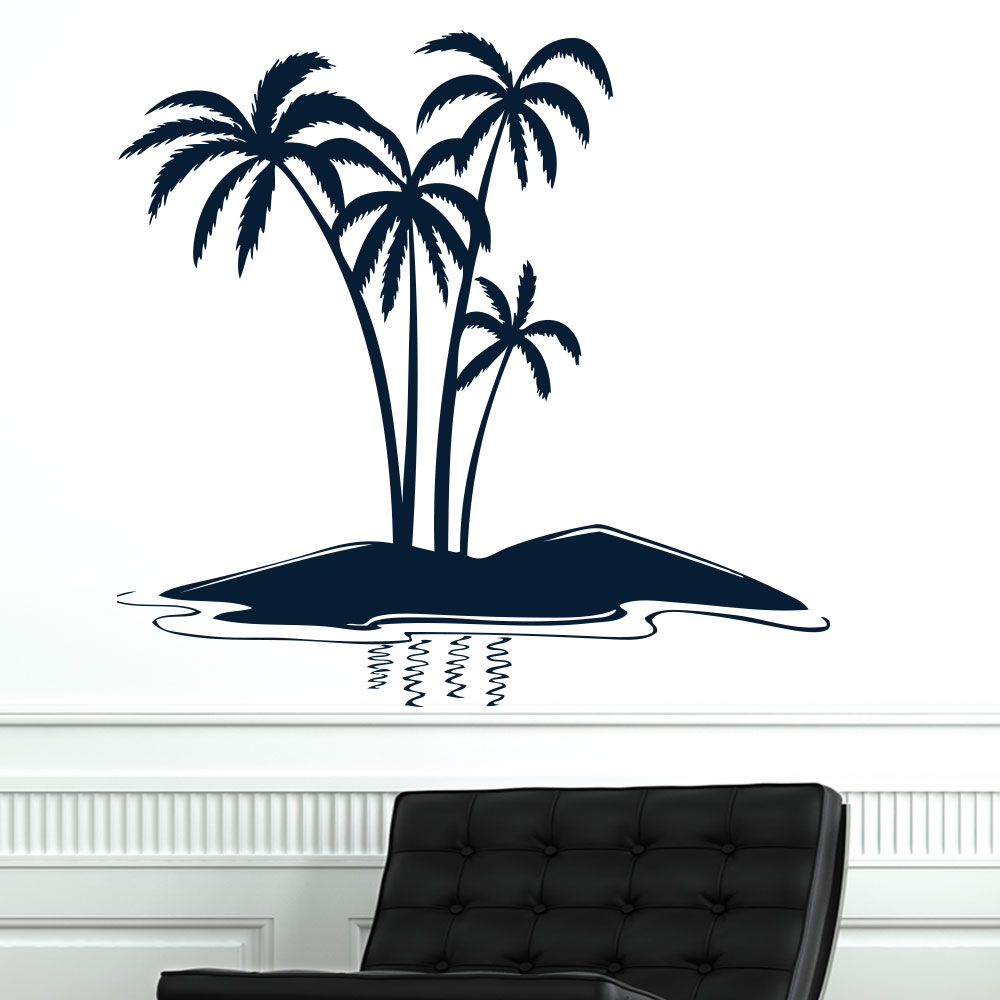 palm trees nature wall sticker