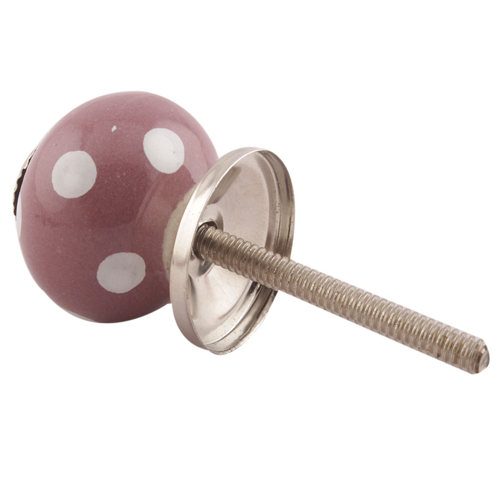 Purple Dotted Small Ceramic Knobs Online
