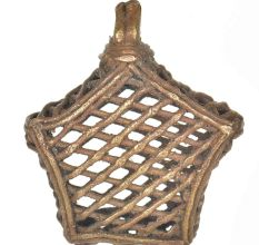 Brass Dhokra Art Star Shaped Wall Hanging