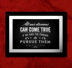 Motivational Quote Courage Wall Painting