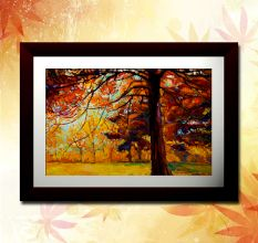 Abstract Forest Trees Wall Painting