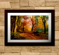 Abstract Leafless Trees Wall Painting