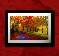 Abstract Trees Wall Painting
