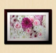 Pink Roses Bouquet Wall Painting