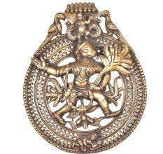 Brass Hanuman under Sheshnag Wall Hanging