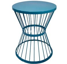 Sky Blue Iron Table