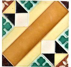 Ceramic Tile With Beautiful Geometric Shapes