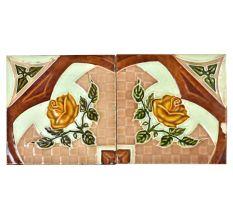 Vintage Ceramic Tile Flower Pattern Set f 2