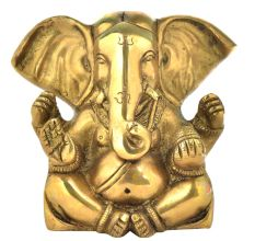 Brass Charbhuja Ganpati With Long Ears