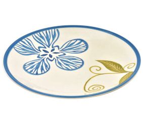 Handpainted Floral Ceramic Plates Set of 2