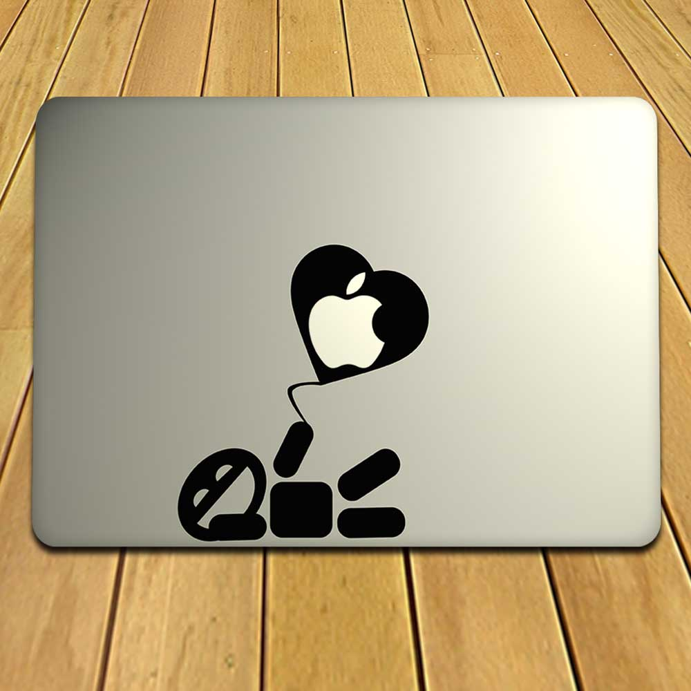 Playful Baloon Heart MacBook Decal