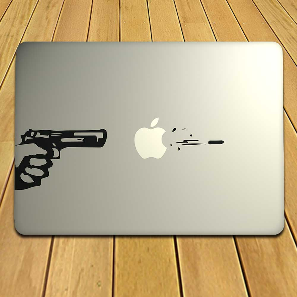 Imposing Gun Decal For MacBook