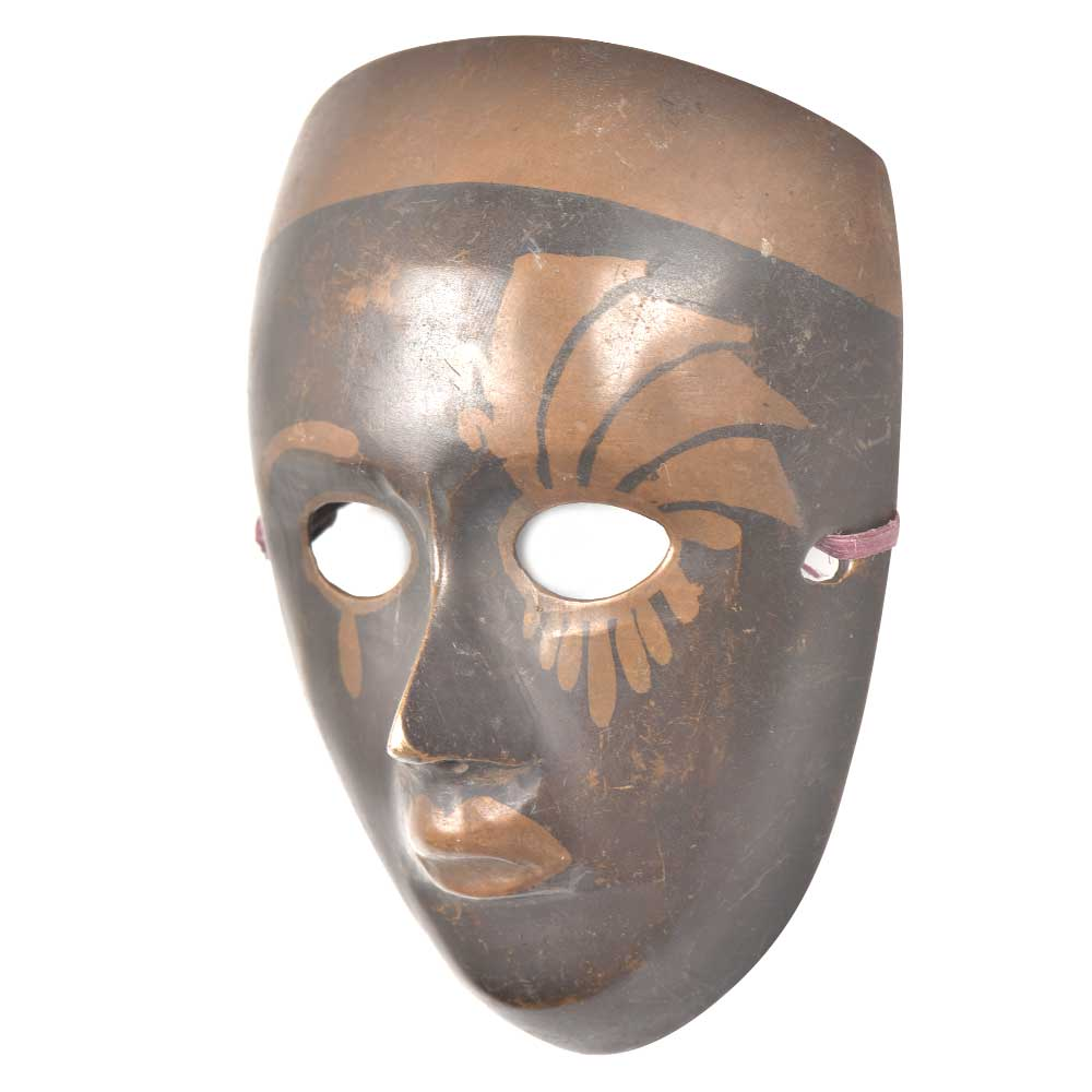 Vintage Heavy Brass Face Mask Wall Art