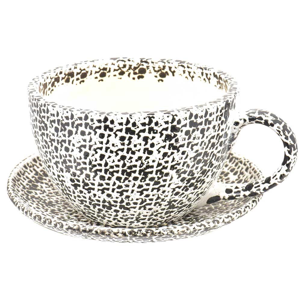 Ceramic Cup Saucer Planter Pot