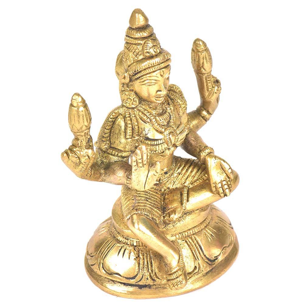 Brass Lakshmi Figurine