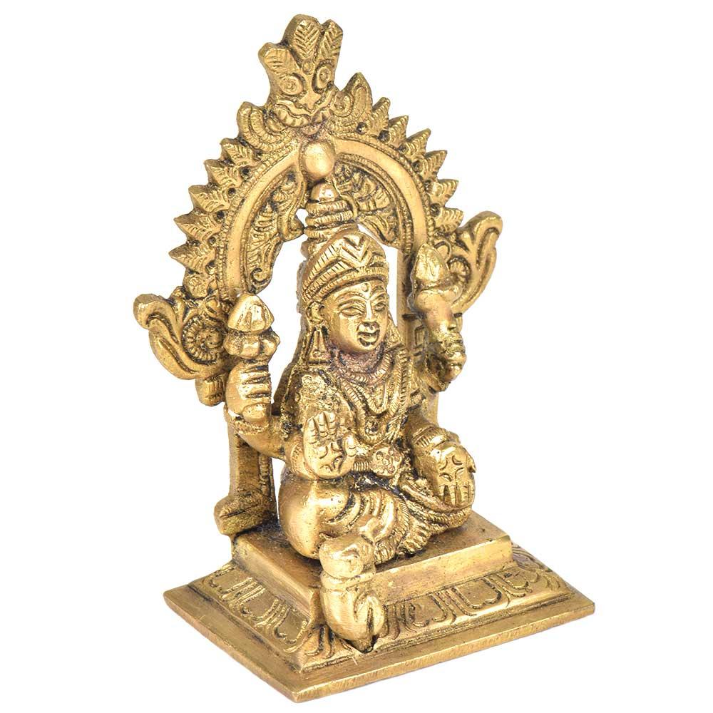 Brass Gaja Lakshmi With Kirtimukha Top