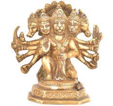 Panchmukhi Standing Brass Hanuman Statue