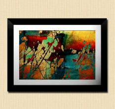 Abstract Colors Modern Art Wall Painting