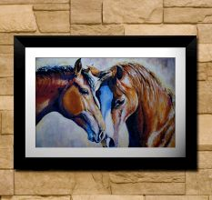 Two Horses Wall Painting