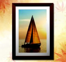 The Sailing Yacht Wall Painting