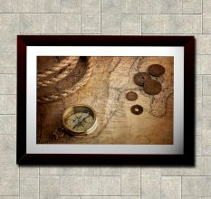Compass & Coins Wall Painting