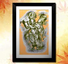 Beautiful Radha Krishna Wall Painting