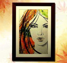 Dusky Beauty Wall Painting