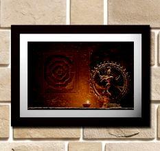 Nataraj With A Lamp Wall Painting