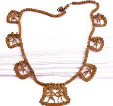 Vintage Handmade Tribal Figurine Pendent Necklace