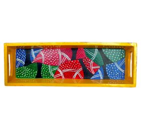 Geometric Handmade Painting Knick Knack Tray