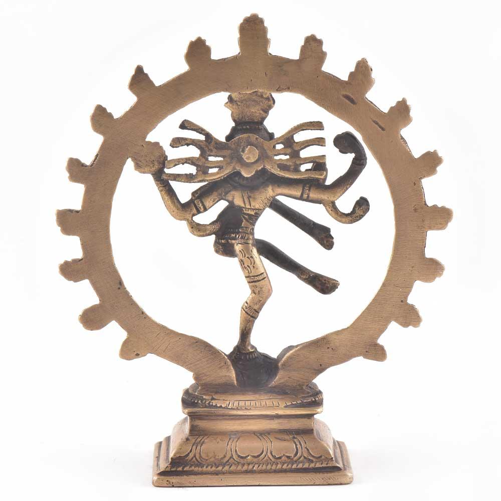 Vintage Brass Nataraja Statue