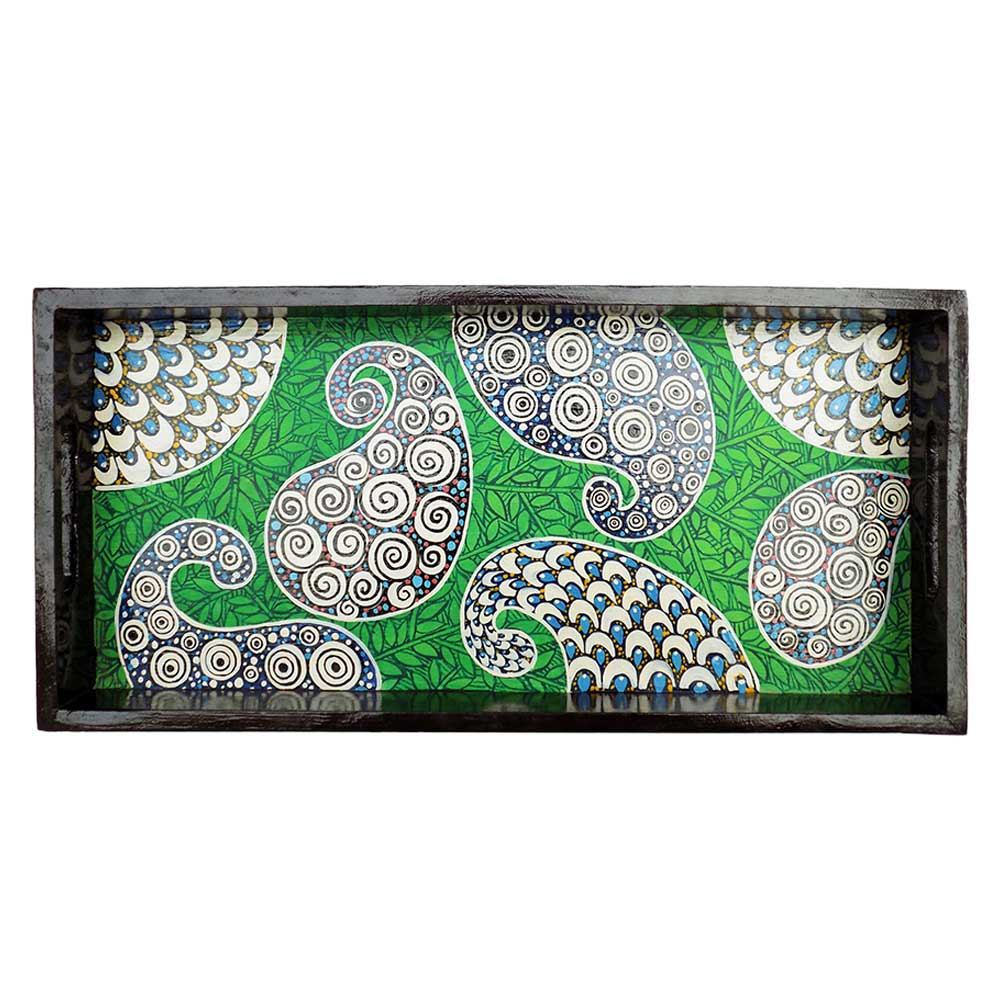 Multi-Color Geometric Design Painting Tray