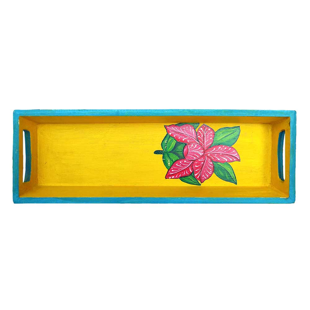 Floral Handmade Painting Knick Knack Tray