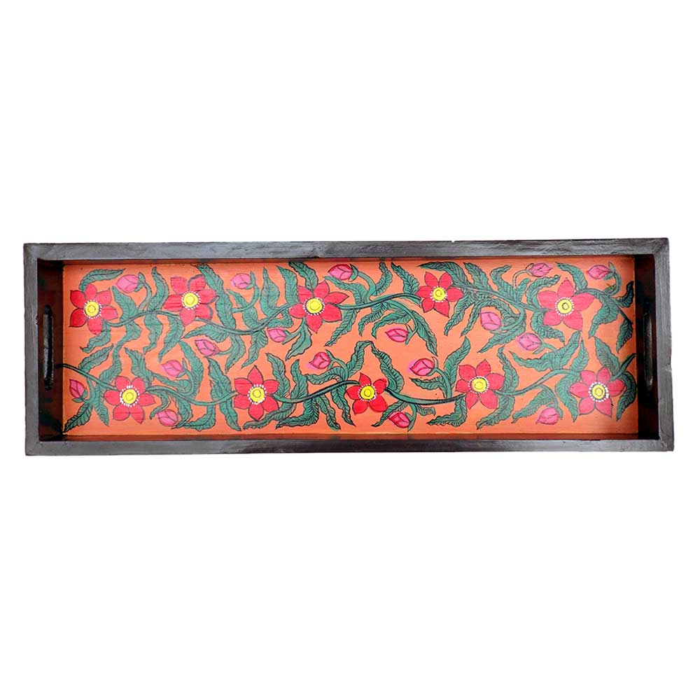 Floral Handmade Contemporary Painting Knick Knack Tray